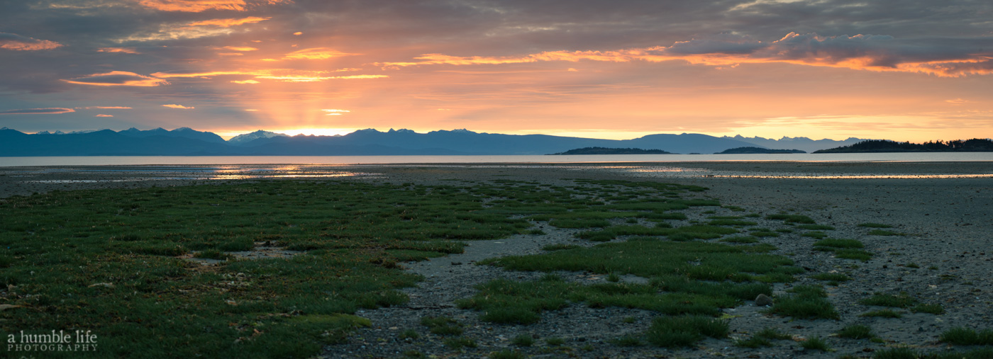 Rathtrevor Beach Sunrise Panorama