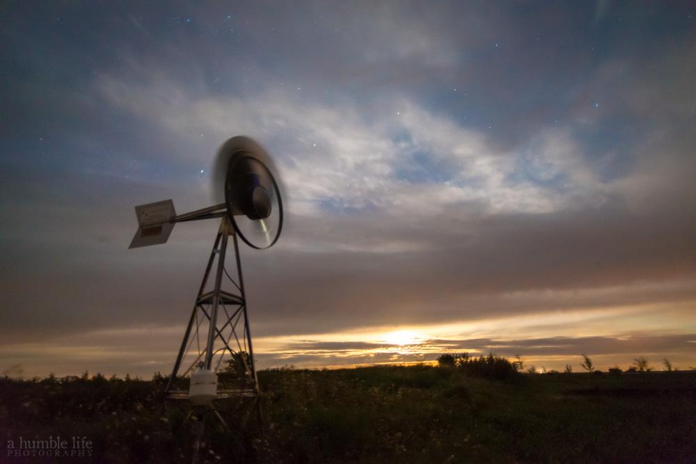 Windmill Moonrise