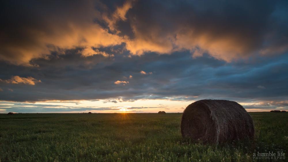 Hay Field Sunset