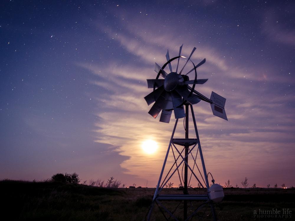 Moonrise Windmill