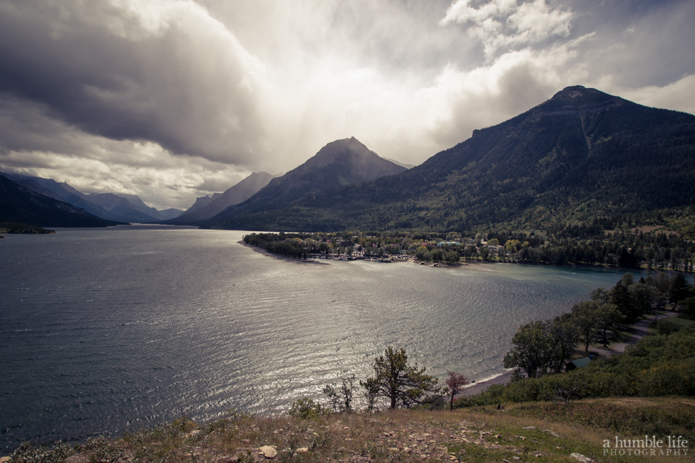 Waterton from a Windy Hill